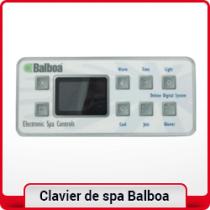 Clavier de spa Balboa